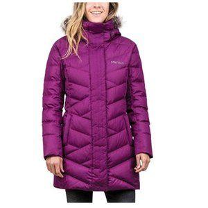 Marmot Varma Faux Fur Long Down Parka Jacket